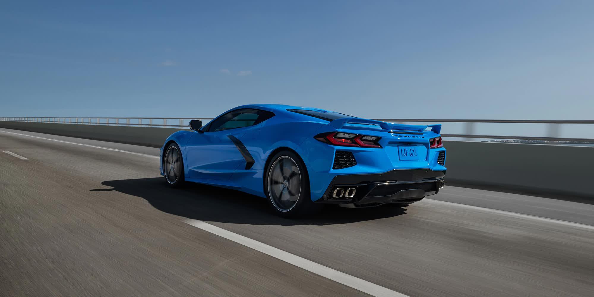 Corvette C8 Singray Blu