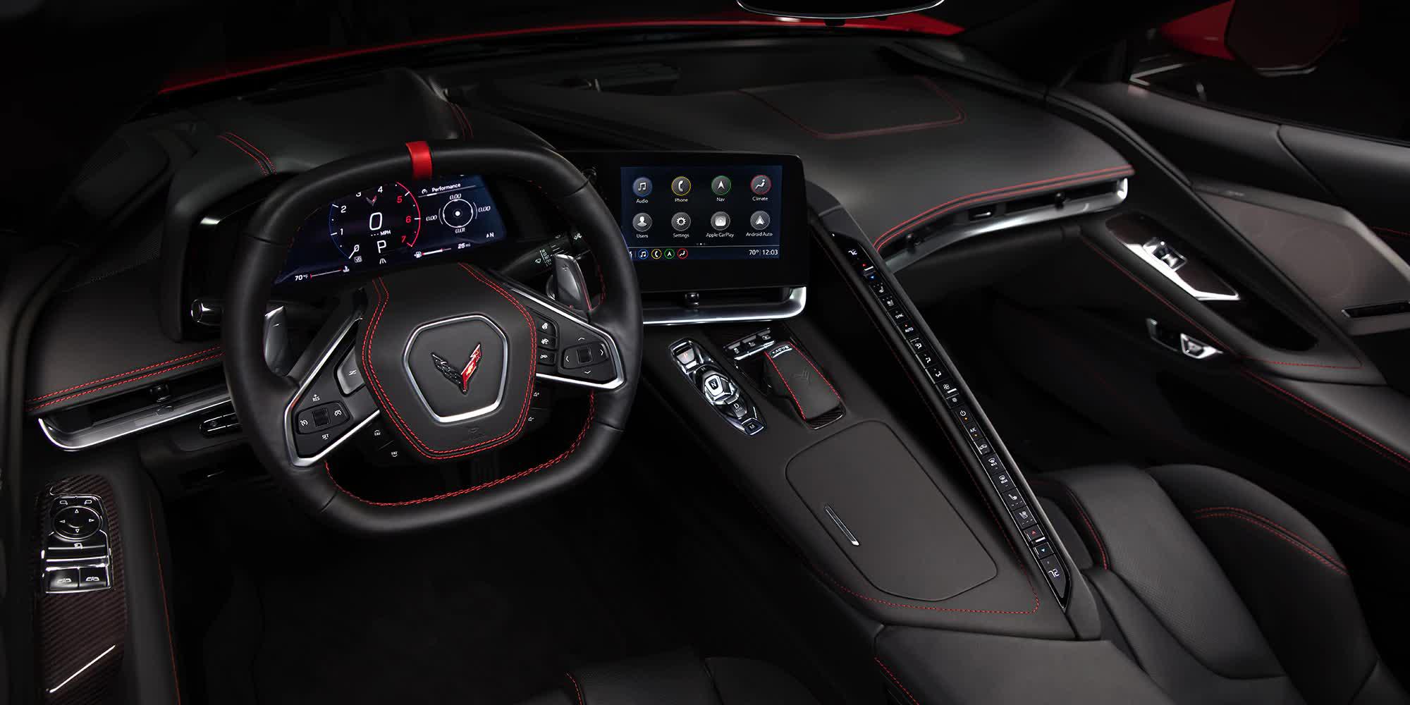 Interni Pelle Nera Corvette C8