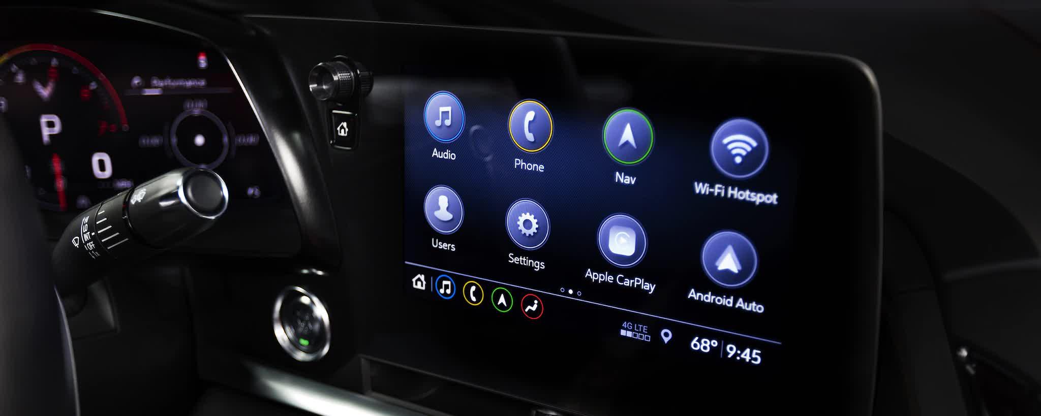 Display Touch-Screen Corvette C8