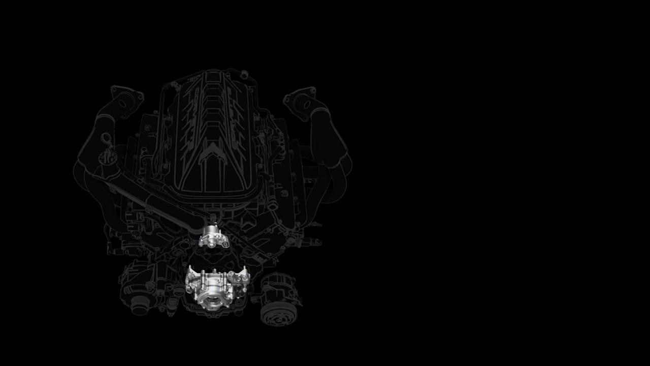 Sistema di recupero a secco Corvette C8