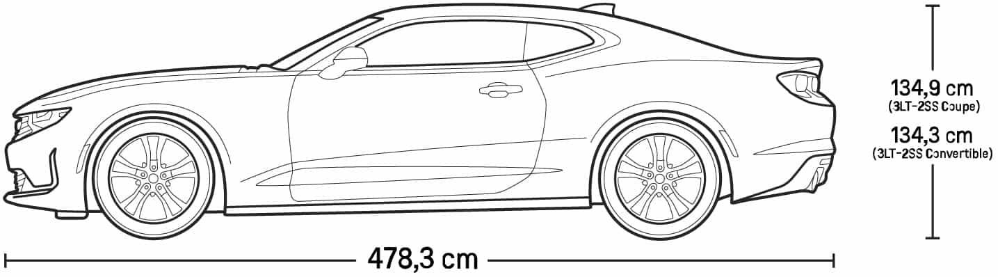 Dimensioni Esterne Chevrolet Camaro